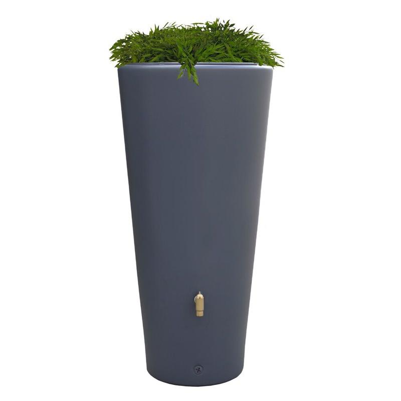 Regenton met plantenbak 220 l. Antraciet