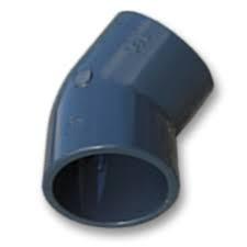 Knie 45° Druk PVC