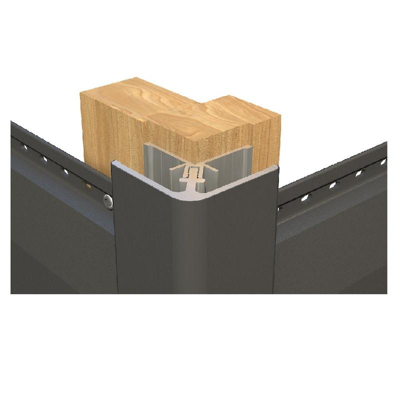 Aluminium Buitenhoekprofiel  4 mtr