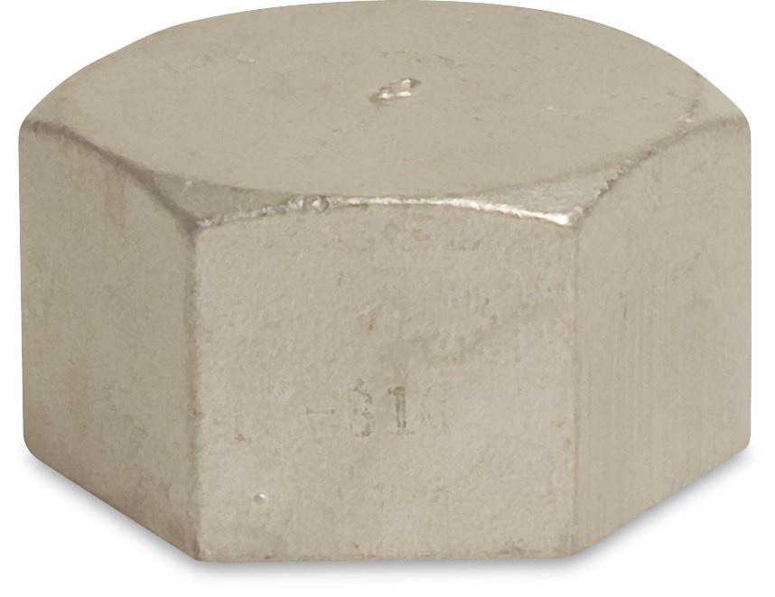 RVS Eindkap zeskant nr.300