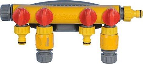 4-weg waterverdeler +2x slangstk Ø12,5mm